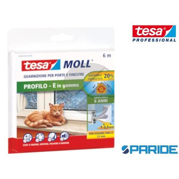 GUARNIZIONE ADESIVA TESAMOLL E-PROFILE 6 MT TESA BIANCO