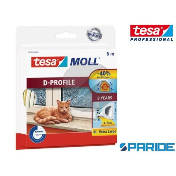GUARNZIONE ADESIVA TESAMOLL D-PROFILE 6 MT TESA BIANCO