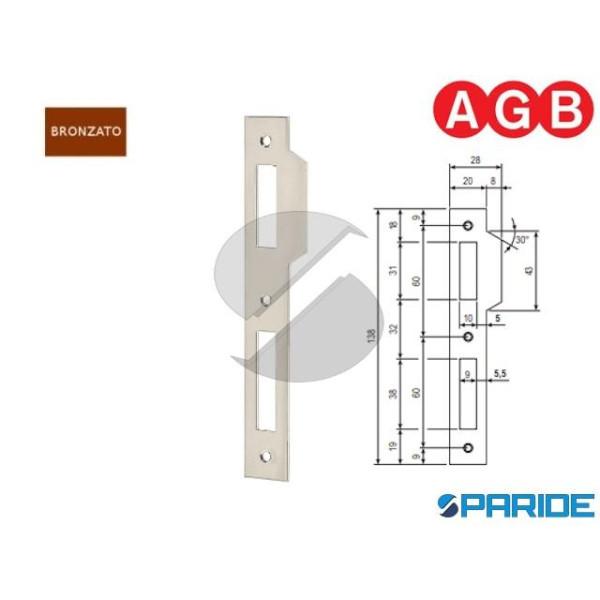 INCONTRO 20X138 BRONZATO VERNICIATO B005700522 AGB...