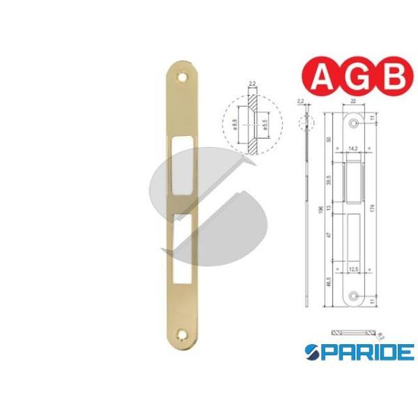 INCONTRO 22X196 OTTONE LUCIDO B014024003 AGB BORDO...
