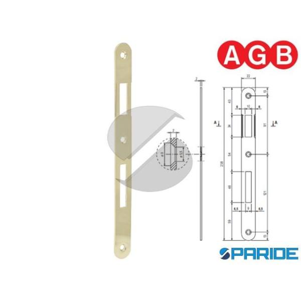 INCONTRO 22X238 OTTONE LUCIDO B005900103 AGB BORDO...