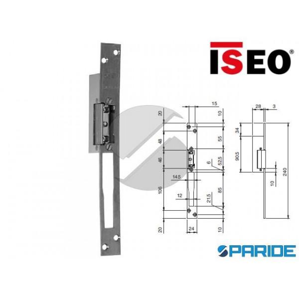 INCONTRO ELETTRICO FRONTALE INOX 25X3 SX L 2 40 56...