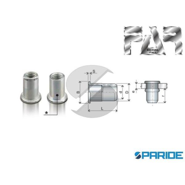 INSERTO FILETTATO ACCIAIO M12 FTT\L D 16,0 MM FAR ...