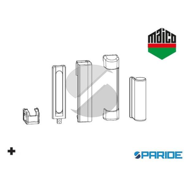 KIT COPERTURE DT130 SINISTRO CERNIERA E SUPPORTO FORBICE 463684 MAICO ARGENTO