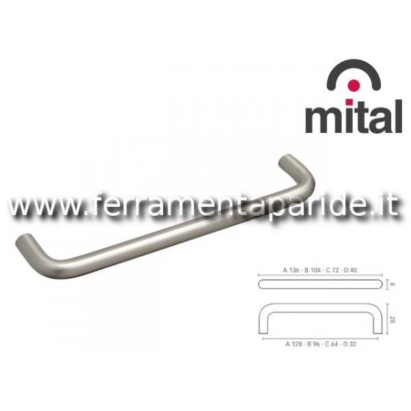 MANIGLIA 3070 CBI MITAL IN METALLO BIANCO PERMOBIL...