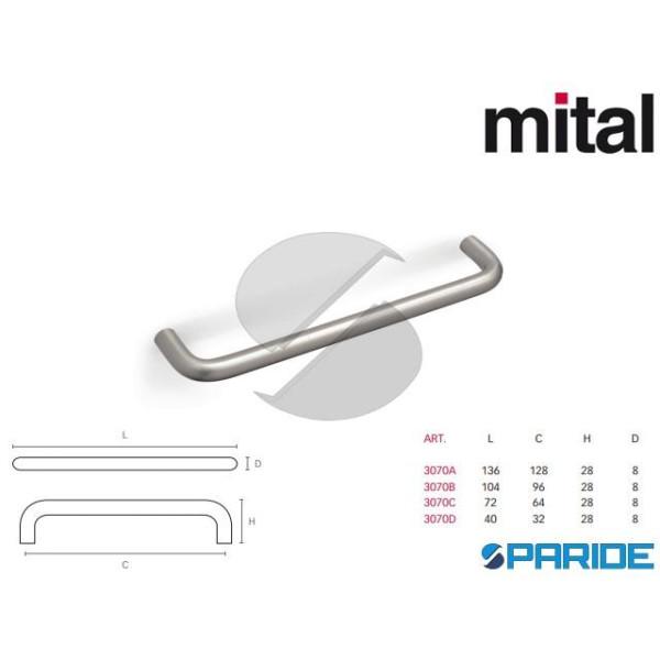 MANIGLIA 3070 CNHST MITAL METALLO NICHEL SATINATO ...