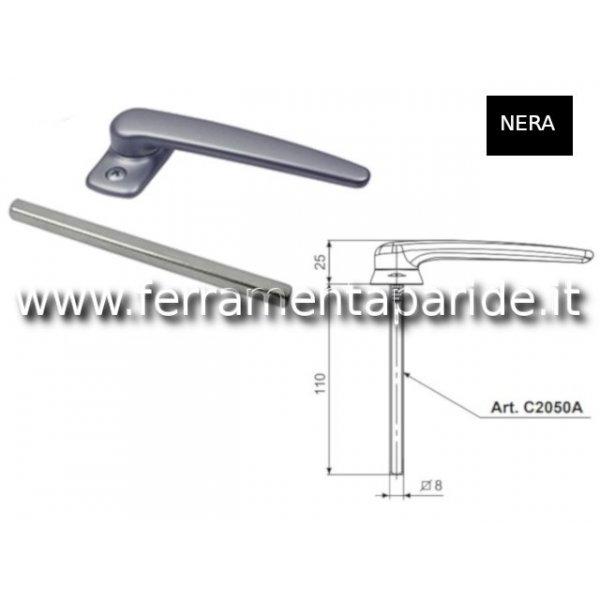 MANIGLIA GIOTTO RIBASSATA C2050A DOMATIC NERA
