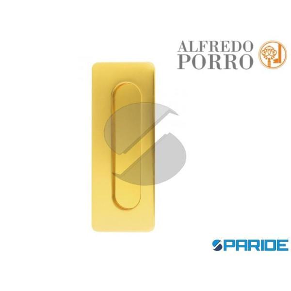 MANIGLIA INCASSO 598 OTTONE LUCIDO PORRO