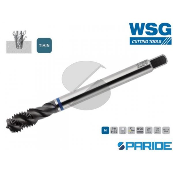 MASCHIO A MACCHINA INOX 9140 M8 P1,25 TIALN WSG FO...