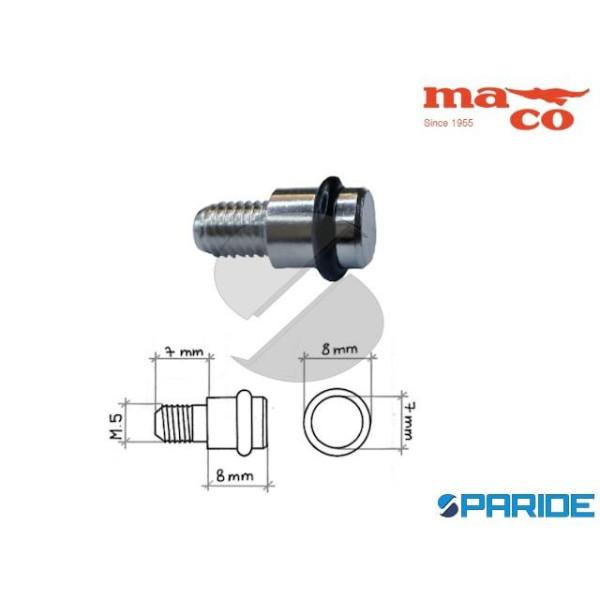 MENSOLINA REGGIPIANO 7X8 M5 OTTONE NICHELATO CON G...