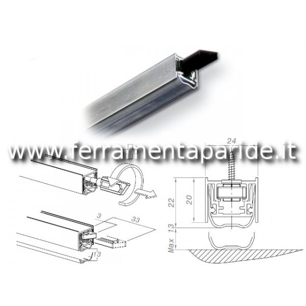 PARASPIFFERI IGLOO DA0551080 L 800 MM PER PORTE DOMATIC
