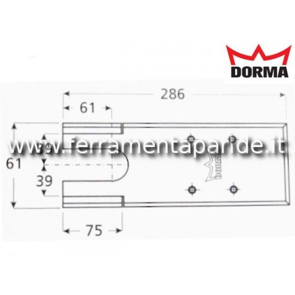 PIASTRA DI COPERTURA INOX PER BTS 75 V DORMA