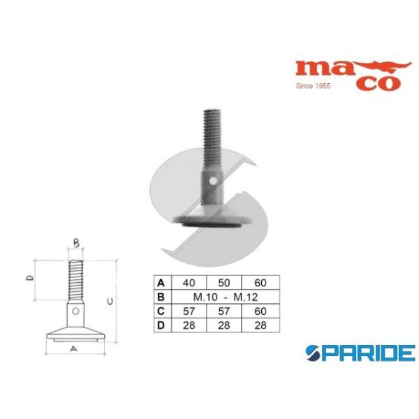 PIEDE D 40 M10 GIREVOLE NICHELATO 0283 MACO