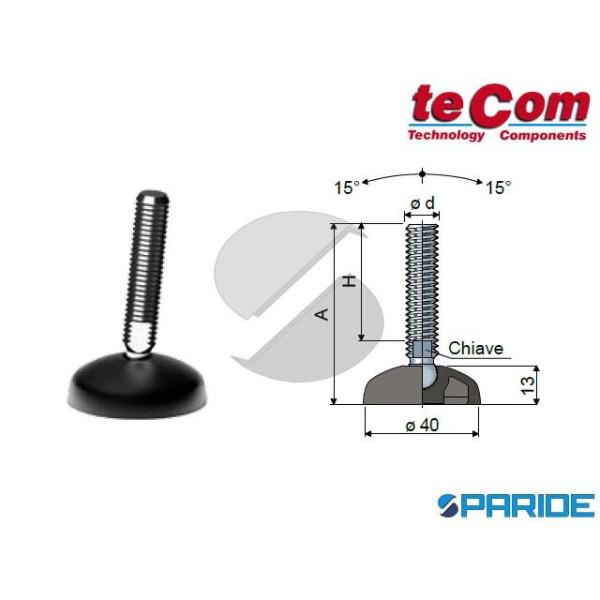 PIEDE SNODATO 10 INOX D 40 MM M10X95 TECOM