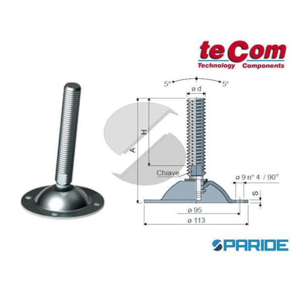 PIEDINO ORIENTABILE D 113 MM M16X161 7917 INOX TEC...