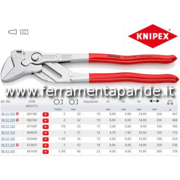 PINZA CHIAVE 86 03 300 REGOLABILE KNIPEX