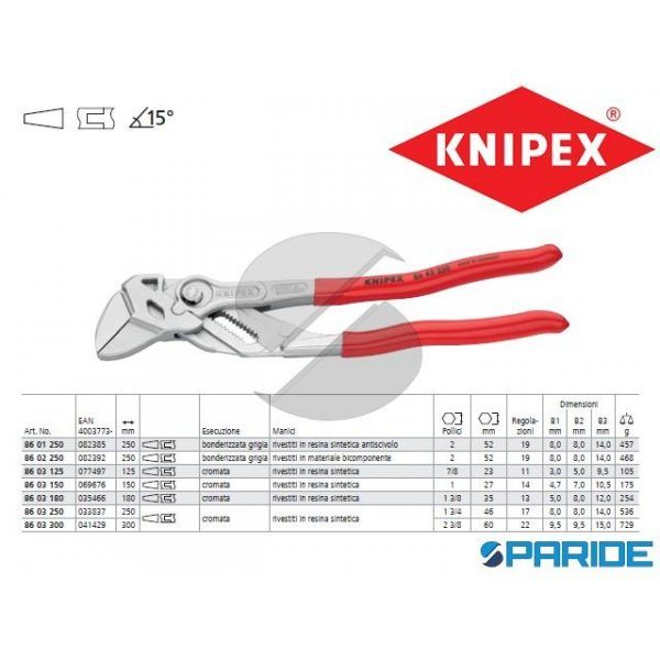 PINZA CHIAVE REGOLABILE 86 03 150 KNIPEX
