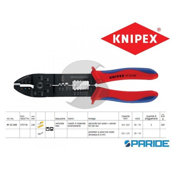 PINZA PER CAPICORDA 97 22 240 KNIPEX