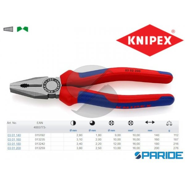 PINZA UNIVERSALE 03 02 200 KNIPEX