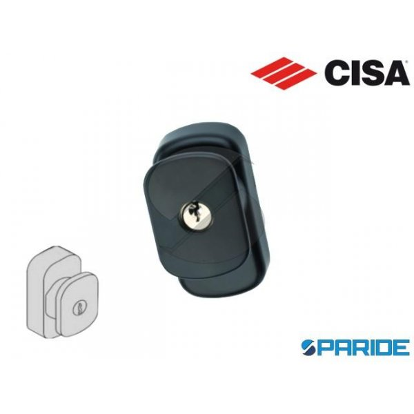 PLACCA CON CILINDRO 07078 29 CISA PER PUSH BAR