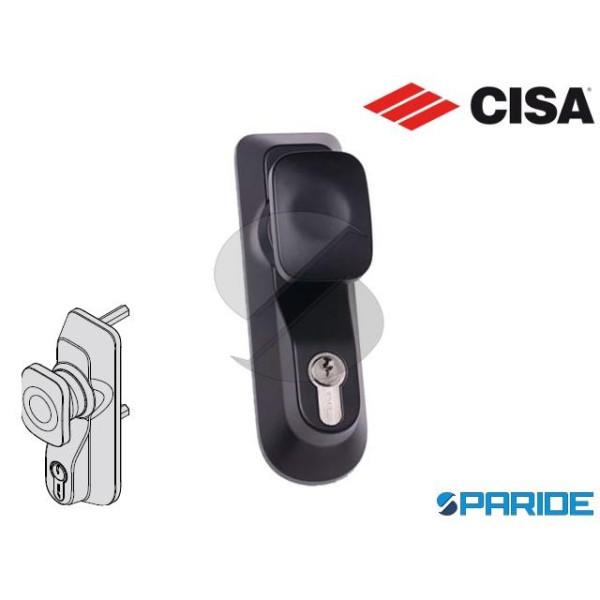 PLACCA CON POMOLO E CILINDRO 07078 69 CISA NERA