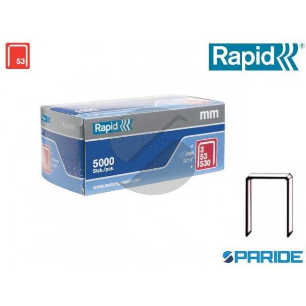 PUNTI METALLICI GRAFFE 3\53 14 MM RAPID 11860410 5...