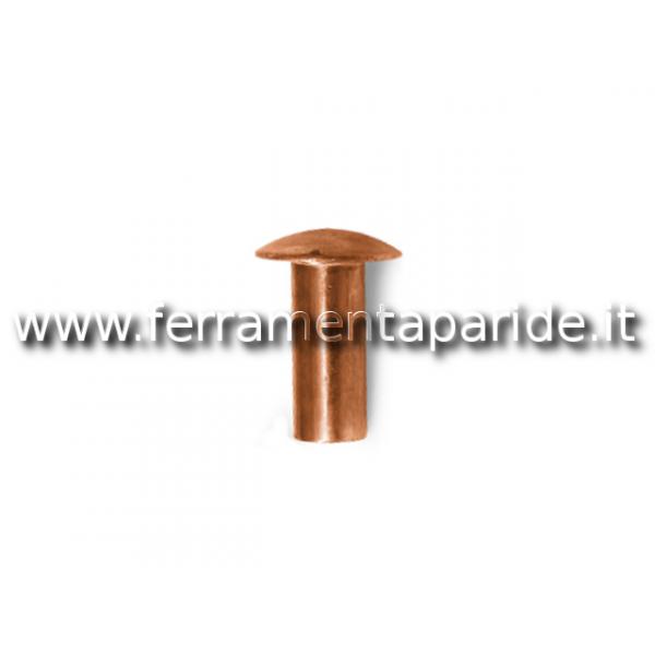 RIBATTINO TESTA TONDA BASSA 4X16 RAME