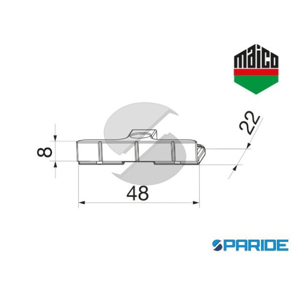 SCONTRO NOTTOLINO PER PVC 354970 MAICO