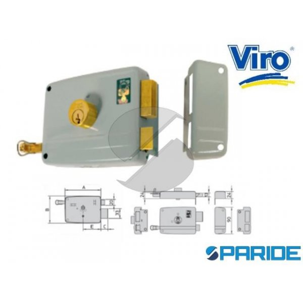 SERRATURA APPLICARE E 40 17501 712 VIRO SINISTRA C...