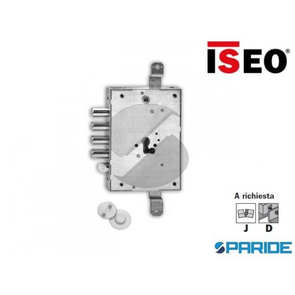 SERRATURA APPLICARE E 63 668G ISEO I28 S13 CILINDR...
