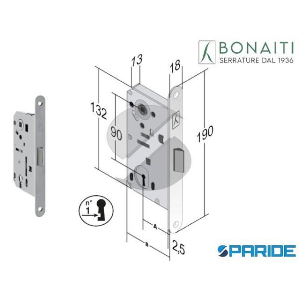 SERRATURA BONAITI E 50 T50 B BITTER CROMO OPACO F ...