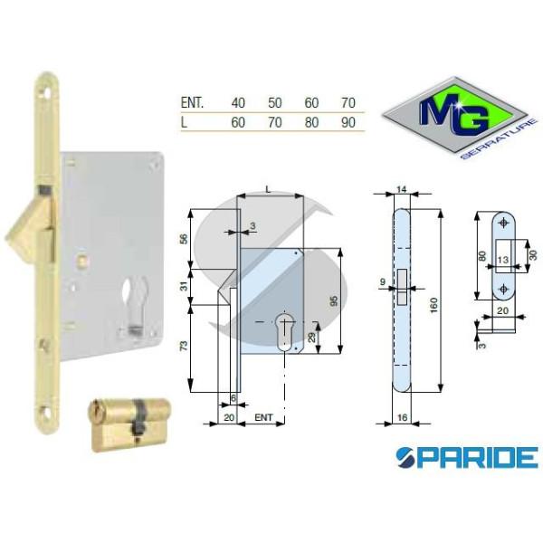 SERRATURA INFILARE E 50 552501AL0 MG GANCIO RIENTR...