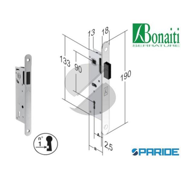 SERRATURA MAGNETICA E 30 F10 B-FIVE BONAITI CROMO ...