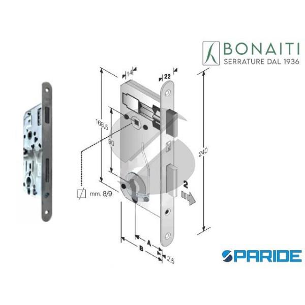 SERRATURA MAGNETICA E 40 E90 B-EVO BONAITI CROMO S...