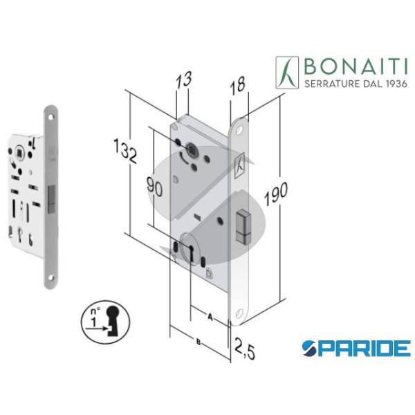 SERRATURA MAGNETICA E 50 D60 B SMART BONAITI CROMO...