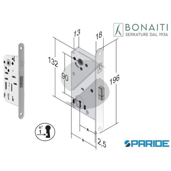 SERRATURA MAGNETICA E 50 D65 B SMART BONAITI CROMO...