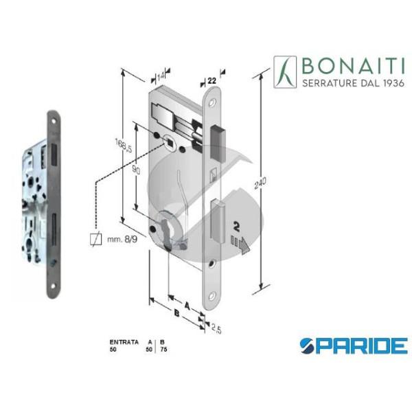 SERRATURA MAGNETICA E 50 E90 B-EVO BONAITI CROMO S...