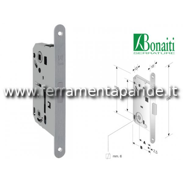SERRATURA MAGNETICA WC E 50 N61 B FORTY BONAITI CR...