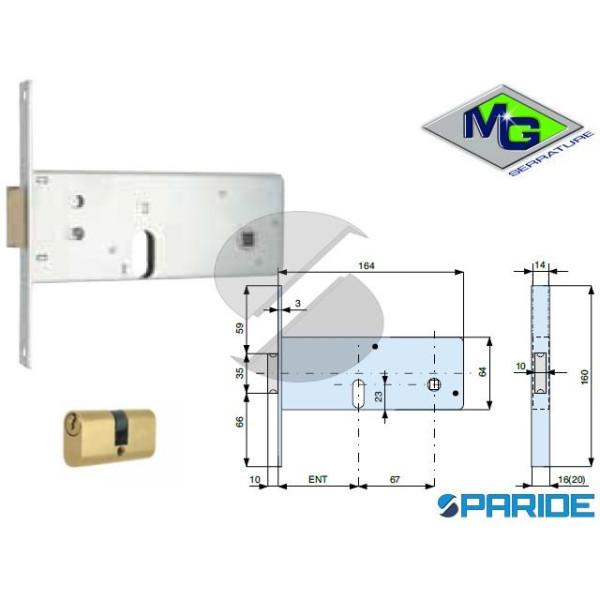 SERRATURA PER FASCE E 70 806701000 MG