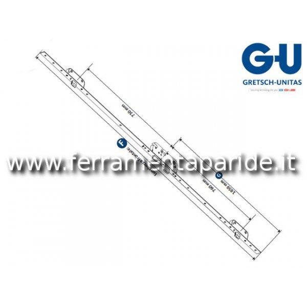 SERRATURA SECURY AUTOMATIC E 55 F 16 FRONTALE LUNGO 6-36037-AE-0-1