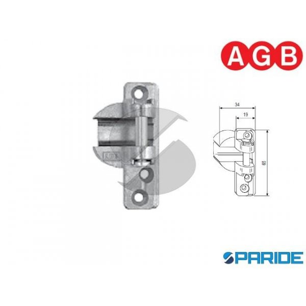 SUPPORTO FORBICE 34X20 A4 B15-18 DX AGB A400410101