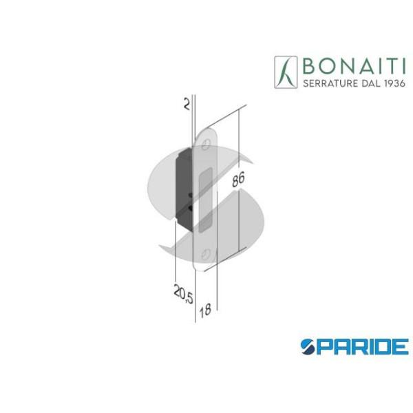 TIRANTE DI TRASCINAMENTO TR1 86X18 CROMO OPACO 4XT...
