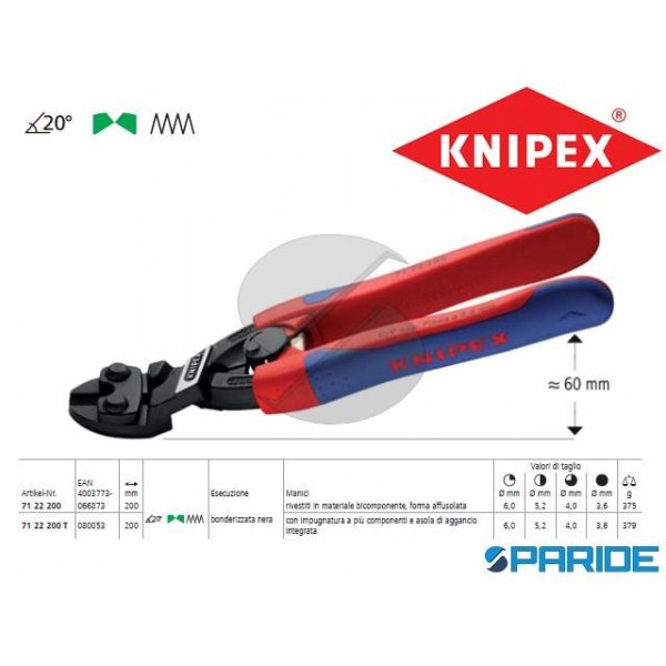 TRONCHESE DOPPIA LEVA 71 22 200 COBOLT KNIPEX
