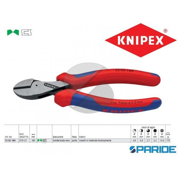 TRONCHESE LATERALE 73 02 160 X-CUT KNIPEX