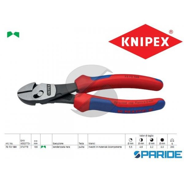 TRONCHESE LATERALE 73 72 180 TWINFORCE KNIPEX