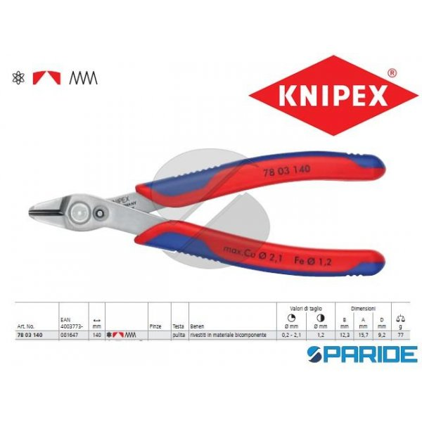 TRONCHESE PER ELETTRONICA 78 03 140 XL KNIPEX