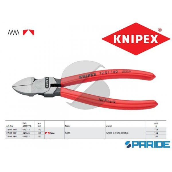 TRONCHESE PER RESINA SINTETICA 72 01 160 KNIPEX