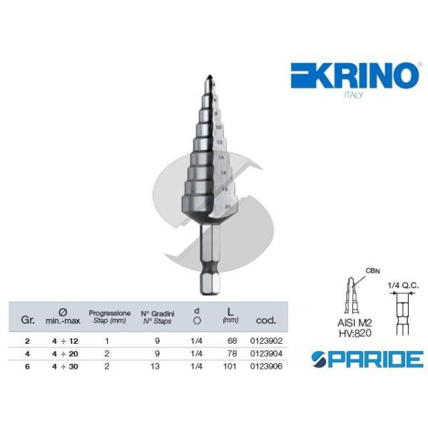 UTENSILE A GRADINI 1\4 4-20 01239 GR 4 HSS-G KRINO